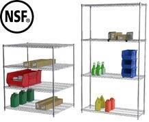 CHROME WIRE SHELVING STARTER UNITS