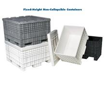FIXED-HEIGHT NON-COLLAPSIBLE CONTAINERS