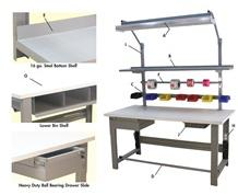1,000 LB. CAPACITY ROOSEVELT SERIES WORKBENCHES - WITH BUTCHER BLOCK TOP